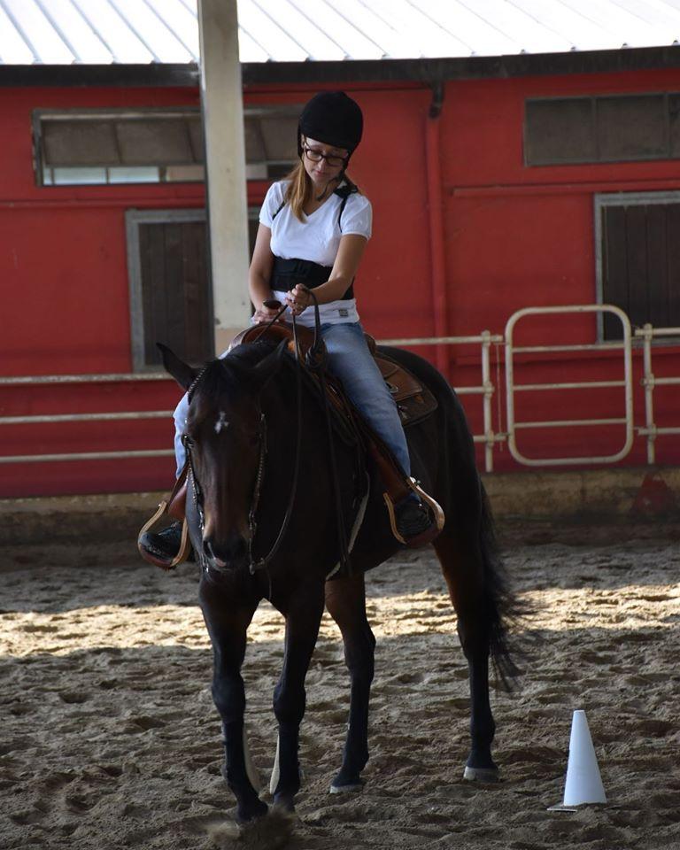 cinzia a cavallo