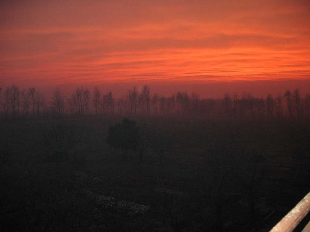 tramonto in azienda
